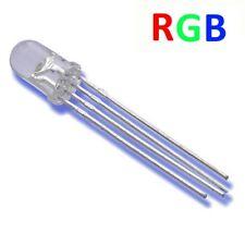 S253 - 20 pièces del 5mm RGB 4 Pin TRANSPARENT ROUGE VERT BLEU COMMUN cathode