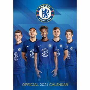 Chelsea FC Super Sized 2021 Calendar Officially Licensed 17 inches x 12 inches
