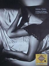 PUBLICITÉ 1986 COLLANT LE BOURGET VOILANCE GALBE SATINÉ  -  ADVERTISING