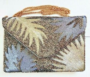 New handmade Beaded Wifey Clutch Purse, Snap Closure, Chain Shoulder Strap