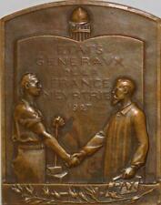 T5483 Médaille Etats généraux France meurtrie Versaille 1927 Citerne