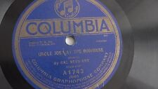 Cal Stewart - 78rpm single 10-inch – Columbia #A-1743 Uncle Josh At The Bug...