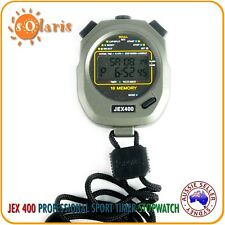 JEX400 Professional Stopwatch 16 Lap Memory Water Resistant All Sports Timer