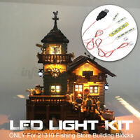 LED Light Lighting Kit ONLY For Lego 21310 Fishing Store Building Blocks   ∫ Д
