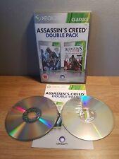 Assassin's Creed 1 & 2 Ubisoft Doble Pack (Xbox 360) en muy buena condición (rápido y libre Post)