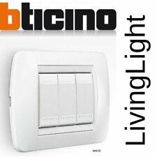 Bticino living light originale placche interruttore presa bipasso schuko tv rj11