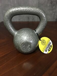 Golds Gym Cast Iron Kettlebell 15 Lb 15lbs Pound Kettle Bell Free Weight