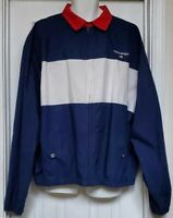 RALPH LAUREN Polo Sport Jacket Vintage XXLarge Mens Red Blue block Windbreaker