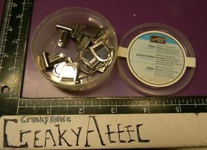 STAMPIN UP PAPER CLIPS ASSORTMENT SILVER 19 PIECES CREAKYATTIC