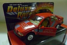 WELLY DIE CAST METAL & PLASTIC DELUXE RACER BMW 325 I  ROSSO RED  ART 9042
