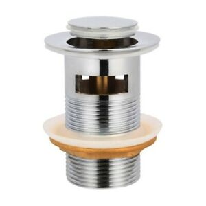 32MM CHROME OVERFLOW POP UP WASTE BASIN VANITY WASTER 40MM ADAPTER BRASS