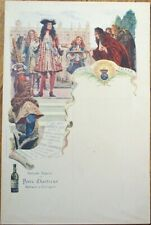 Chartreux: Maurice Leloir/Artist-Signed 1900 French Advertising Menu- Chartreuse