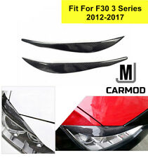 REAL CARBON FIBER HEADLIGHT EYEBROW TRIM COVERS Fit FOR 12-17 BMW F30 335I 328I