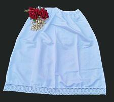 """Long Half Slip Underskirt Petticoat in White Length 30"""" Size 22/24  XOS30"""