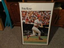 PETE ROSE SIGNED SPORTS ILLUSTRATED POSTER