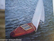 A MODEL BOAT THE CHARLOTTE FOLDING  R/C YACHT APPROX 26 INCH LONG