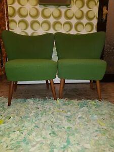 60er Mid Century Sessel 2stk mit extra Bezug in Gold farben top Zustand