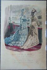 Gravure de mode 1875 - Revue de la mode  Gazette de la famille