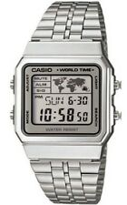 Casio A-500WEA-7EF Orologio Uomo Vintage, Crono, Luce, Timer, Sveglie World Time
