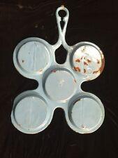Vintage/Antique Rare Turquoise Enamel Cast Iron Pancake Pan