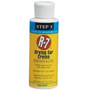 R7 Drying Ear Creme for Pet Dogs & Cats - Clean Healthy Dry Moisture Barrier
