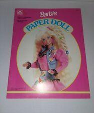 BARBIE PAPER DOLLS BOOK 1992 A GOLDEN BOOK