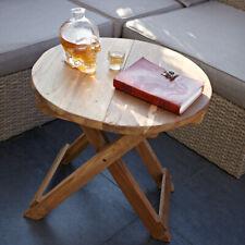 Round folding coffee table - handmade