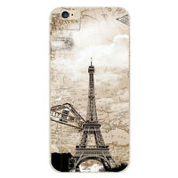 Slim Etui Housse Coque Soft TPU Pattern Case Cover For iPhone 5s SE 6 6s 7 Plus