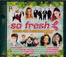 So Fresh Songs For Christmas 2017 2-disc CD NEW Ariana Grande Whitney Houston
