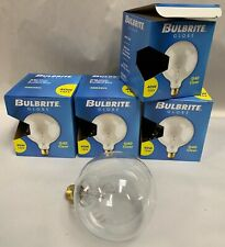 """4"" NEW Bulbrite 40G40CL 5"" Dia. Std Base 40W Clear Globe Light Lamp Bulb (A6)"