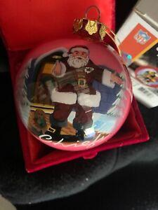 Kansas City Chiefs Ornament Santa Christmas Ball Memory Co. New NFL