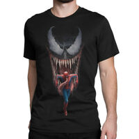 Venom vs Spiderman Art T-Shirt, Marvel Comics Tee, All Sizes