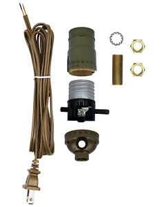 Creative Hobbies Make a Lamp or Repair Kit with Basic Hardware - Antique Brass