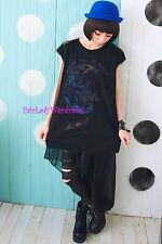 Japan High Low Chiffon Layering Skirt! Black