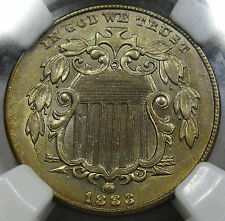 1883 Shield Nickel Choice BU NGC MS-61... Very FLASHY, Original with Nice Color!