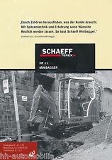 Prospekt Schaeff HR 11 Minibagger 2002 brochure mini excavator excavateur