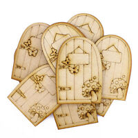 3mm MDF  9.5cm x 6.5cm cm Fairy Doors - pack of 10
