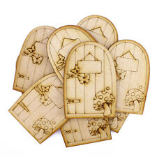 9.7cm Fairy Doors Laser Cut from 3mm MDF - Pack of 10 (Design A)