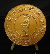 Médaille Paul Rivet Signes du zodiac astrologie astrology par P Poisson Medal
