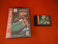 Teenage Mutant Ninja Turtles: Tournament Fighters (Sega Genesis 1993) w Box game