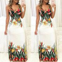 Boho Ladies Cocktail Party Beach Sundress Evening Summer Women Long Maxi Dress
