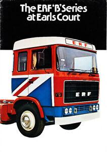 ERF B Series at Earls Court, Truck Brochure, 1976