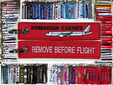 Keyring Bombardier CSERIES CS100 CS300 tag Remove Before Flight for Pilots