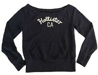 Abercrombie & Fitch Women's T Shirt Black Low Neck Medium Cotton Blend