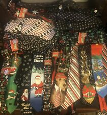 Huge Lot Of Xmas NWT 33 Neckties And 24 Pcs Of Jewelry Retail Over $1,300