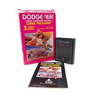 Dodge 'Em (Atari 2600, 1980) CX2637 CIB Complete in Box w/ Manual & Game Tested