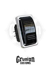 Billet Euro Rocker Black Anodized Switch Cover Carling Technologies Contura III