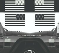 """Set of 2 US American Flag Military Left & Right Sticker Vinyl Decal 7""""x4"""""""