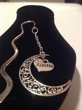 auntie.. filligree book mark silver plated