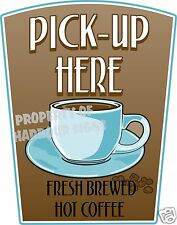 "Pick-up Here Decal 14"" Coffee Food Truck Concession Restaurant Vinyl Sticker"